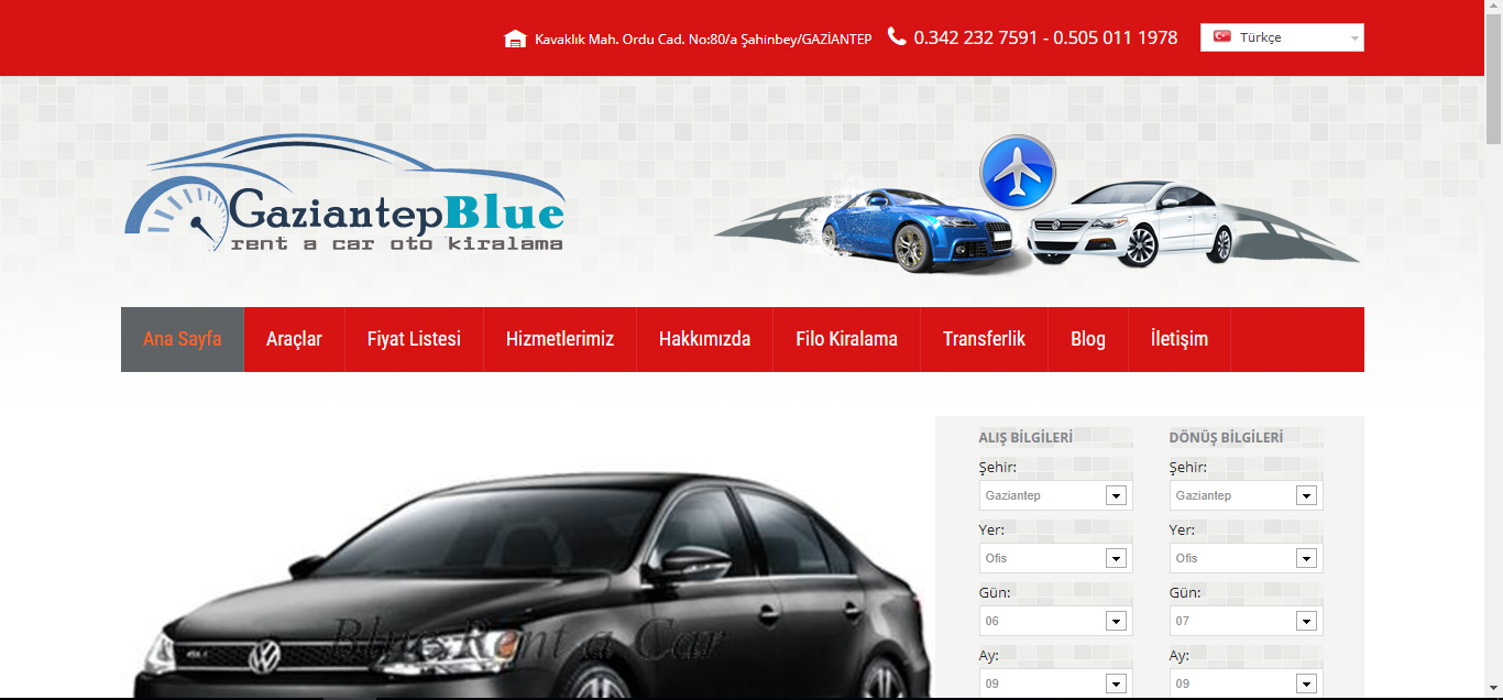 Gaziantep Blue Rent A Car